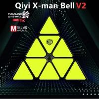 Rubik QiYi XMD X-Man Bell Pyraminx V2 M Magnetic Black Base V2M XMan