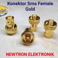 Konektor Sma Female To BNC Female Gold HT Baofeng UV82 UV5R Taffware