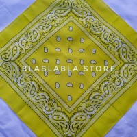 Bandana Motif Paisley - Kuning 100% Katun