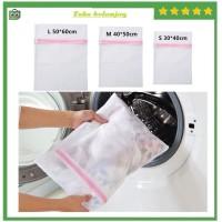 Laundry Zipper Net Bag Kantong Jaring BH Cuci Baju Kotor Mesin cuci CD