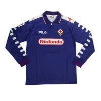 Jersey Bola RETRO FiORENTiNA HOME 98/99 LENGAN PANJANG 1998 1999 Baju