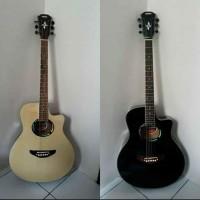 Gitar Akustik YAMAHA APX 500 ii HITAM Mantap Jiwa NON EQ
