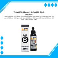 Tinta Alfaink Epson L Series 664 Black For Use : Epson L100