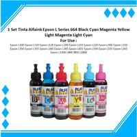 1 Set Tinta Alfaink Epson L Series 664 Black Cyan Magenta Yellow LC LM