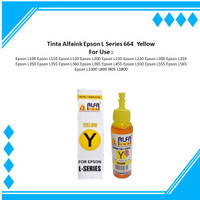 Tinta Alfaink Epson L Series 664 Yellow For Use : Epson L100 L110