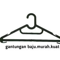 hanger gantungan baju plastik murah kuat (lusinan / per 12 pcs /lusin)