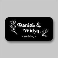 Stiker Label Souvenir Pernikahan Sticker Nama Penganten Wedding Model4