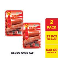 BOSS Basis Sapi / Bakso Sosis Merah @ 27 Pcs 530 Gr Multipack
