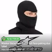 Masker Balaclava motor full face paking dus label