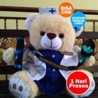 Boneka Perawat Wisuda 50cm Custom + Nama, Pin, Tabung, Selempang