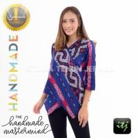 Baju Wanita | Atasan Wanita Kekinian | Blouse Batik Songket Modern