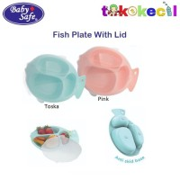 Baby Safe BS355 Fish Plate With Lid Feeding Divided Piring Makan Anak