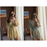 SUMMER SET Crop Top Pakaian Wanita Set Beachwear Summer Celana Pantai