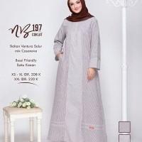 Baju Gamis Muslimah Syar'i ORI Nibras NB 197 Size XS-XL Murah