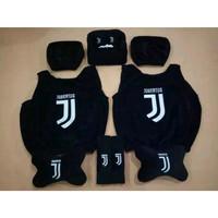 Bantal Mobil Juventus Set 5 in 1 / Sarung Jok Juventus 5 in 1