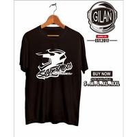 Kaos Baju Supermoto edisi Helmet edition KLX 150 - Gilan Cloth