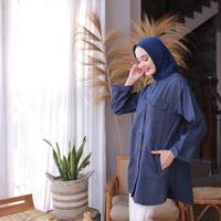 Ara Tunik - Atasan Baju Muslim Lengan Panjang Wanita - Denim