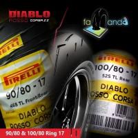 PAKET BAN PIRELLI DIABLO ROSSO CORSA 2 90/80 & 100/80 RING 17
