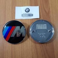 Emblem M BMW 82mm kap mesin atau bagasi