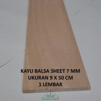 Kayu Balsa Sheet 7 mm / Balsa Lembaran / Papan / Kayubalsa