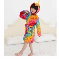 baju handuk kimono bathrohe renang unicorn impor anak perempuan lucu