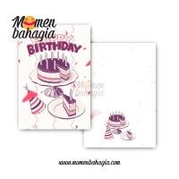 Kartu Ucapan Ulang Tahun Murah - Birthday Greeting Card + Amplop 007