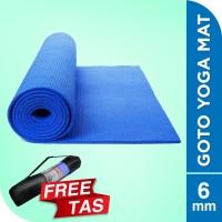 Matras Alas Yoga Senam Mat 6 mm Anti Slip Outdoor Indoor Free Bag