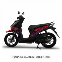 Striping Stiker variasi Motor Honda Beat New - Street 2020 BATIK ETNIK