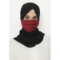Heaven Sent - Masker Hijab Non Medis Aresha Maroon