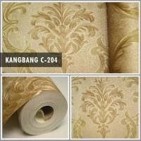 Wallpaper Dinding Klasik Gold Emas Mewah Murah KB C-204