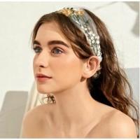 Headband Embroidery Flower Bandana Bando Korea Wanita Hair Accessories