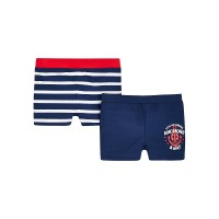Mothercare Navy and Stripe Trunkie Swim Shorts -2Pack(up to 3mo -6mo)