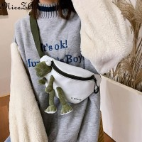 Tas wanita-Kanvas lucu tas dada versi Korea dari liar tas wanita tas