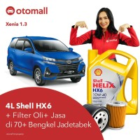 Oli Xenia 1.3 Shell HX6 10w40 + Filter Oli + Jasa Pasang