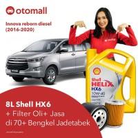 Oli Innova reborn diesel Shell HX6 10w40 + Filter Oli + Jasa Pasang