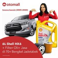Oli Innova bensin Shell HX6 10w40 + Filter Oli + Jasa Pasang