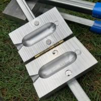 Cetakan timah J6 pancing  matras bandul terbuat Aluminium