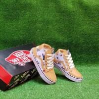 Sepatu Anak Vans Sk8 High Mickey Mouse Putih Cokelat Premium Bnib