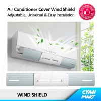 Talang Ac Cover Angin Ac Reflektor Wind Shield Air Conditioner ABS C01
