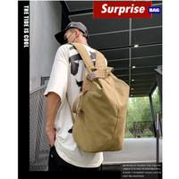WYK52 Tas Ransel Kanvas Model Karung Besar Premium Canvas Sack TKM