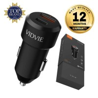 VIDVIE Dual Port Car Charger CC516 QC 3.0 + PD 24W