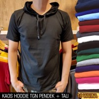 Kaos polos hoodie pria wanita 24s lengan pendek & lengan panjang - S, kaoshodie pndk