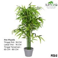 Pohon Bambu Plastik/Sintetis Mini