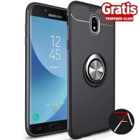 Samsung J7 Pro J7Pro Invisible I Ring iRing Soft Case Tempered Glass