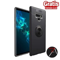 Samsung Note 9 Note9 Invisible I Ring iRing Soft Case Tempered Glass