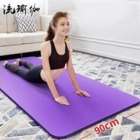 Matras Yoga Mat LEBAR 90CM TEBAL 10MM Senam Pilates Olahraga - PINK LEBAR 60CM