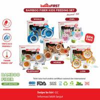 BABIESFIRST Bamboo Kids Feeding Set 3D Alat Makan Anak Karakter Animal