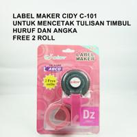 CIDY dymo embossing label maker - Merah Muda