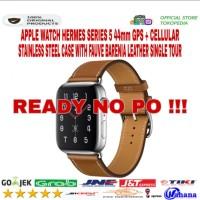 Apple Watch Hermes Series 5 44mm Stainless Fauve Barenia Single BNOB