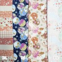 Bahan Kain Katun Jepang 48x48cm Bunga Tokai Senko Japan Design Fabric